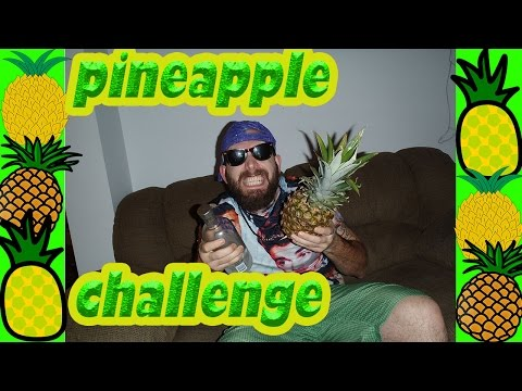I Eat An Entire Bloody Pineapple And Leaves, Pineapple Challenge (rynO the wynO)
