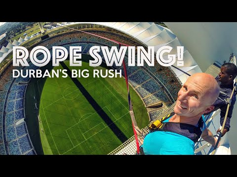 BIG RUSH - World's Tallest Rope Swing klip izle