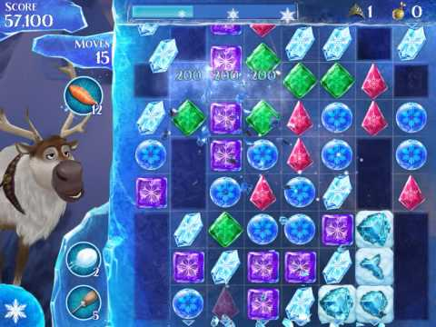 Frozen Free Fall Level 185 Live Action Play Walkthrough