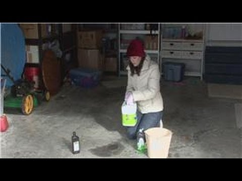 Housecleaning tips what is the best way to remove oil for Best way to remove oil from concrete