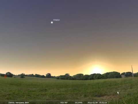 26.01.2012- Dziś wieczorem bliskie spotkanie Księżyca z Wenus
