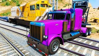 Colorul Trucks Trouble with Train & Nursery Rhymes Songs for Kids