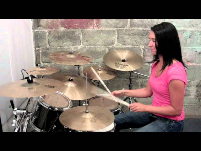 "Emmanuelle Caplette on Drum: ""Contravention"" Fusion Song (Sept. 2011)"