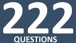 222 ENGLISH QUESTONS AND ANSWERS.  English Speaking Practice. Learn English Conversation