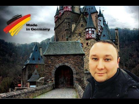германии средневековый Замок Бург Эльц.
