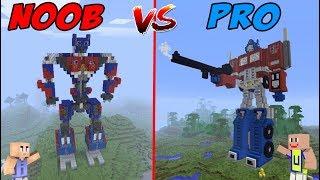 MINECRAFT: NOOB VS PRO - Robot Noob VS Robot Transformers