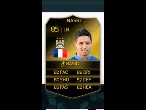 Fifa 14 ultimate team: inform Nasri brand new totw week 200k player