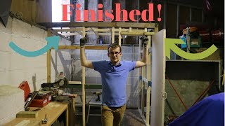 How to build a budget paint booth - Frame Finished!