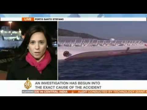 16.01.2012 * Biggest Tragedy at Sea.. Italy cruise ship Costa Concordia aground