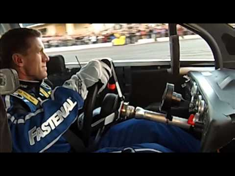 Victory Lap Ride Along with Carl Edwards - Does a Burnout with No Steering Wheel