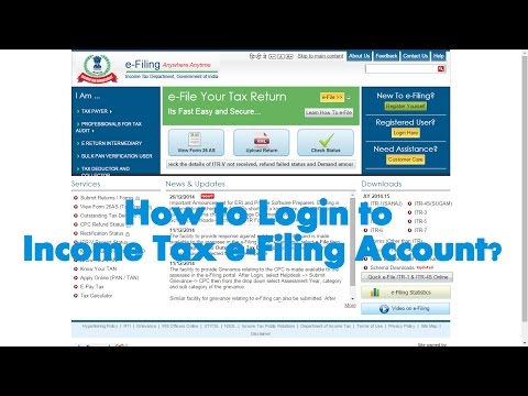How to Login to Assessee Account in Income Tax e-Filing website?