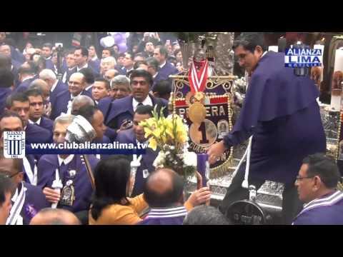 Alianza Lima le rindió homenaje al Señor de los Milagros