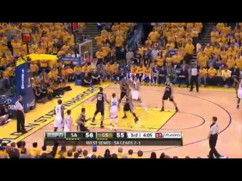 San Antonio Spurs Vs Golden State Warriors - NBA Playoffs 2013 Game 4 - Full Highlights 5/12/13