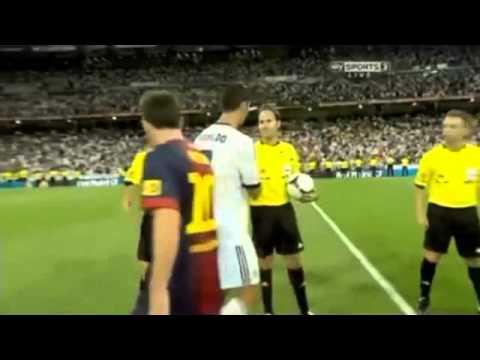 Cristiano Ronaldo No Look Lionel Messi After Match Copa Del Rey 2013