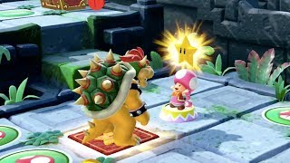 Super Mario Party - Domino Ruins Treasure Hunt (Bowser/Bowser Jr vs Peach/Rosalina) | MarioGamers