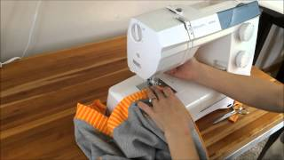 Sewing a zipper on a sweatshirt with Brindille & Twig