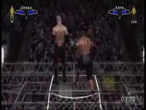 smackdown vs raw 2007 kane vs umaga hell in a cell