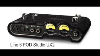 Line 6 POD Studio UX2 vs Scarlett 2i2 Guitar test