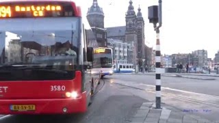 Buses in Amsterdam, Holland