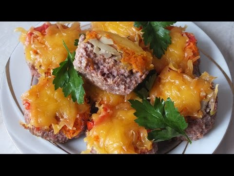 Блюда из фарша мясного с грибами рецепты