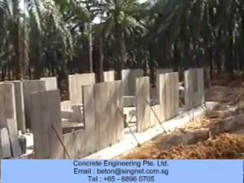 Precast Walls Wall Panels Low Cost Housing Light Weight