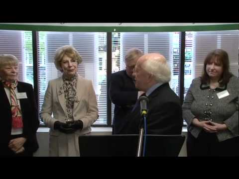 Irish President Michael D. Higgins visits the Bronx