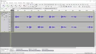 Making Sound files with Audacity