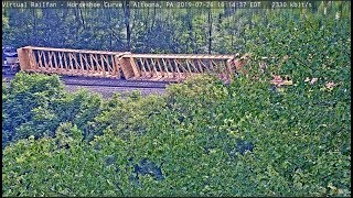 SECOND DERAILMENT IN 3 WEEKS! 7/26/2019  Horseshoe Curve, PA