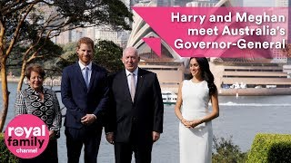 Prince Harry and Meghan meet the Queen's Australian representative
