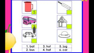 Match the picture with the word activity - kindergarten