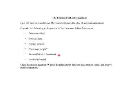 The Common School Movement - 02/22/2014
