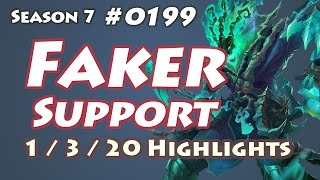 SKT T1 Faker - Thresh Support - KR LOL Highlights | 페이커 쓰레쉬
