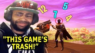 """Fortnite's Worst """"THIS GAME'S TRASH"""" Moments of All Time!"""