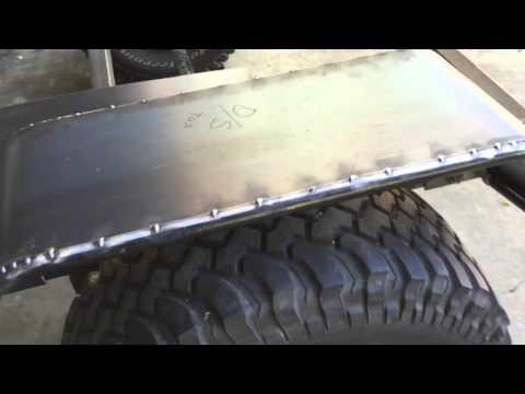 Off-road teardrop trailer tube fenders build update #3
