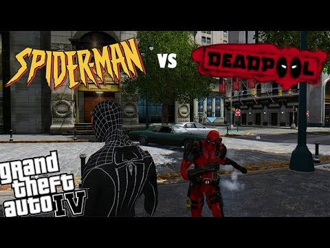 GTA 4 Spiderman Mod vs Deadpool Mod - Can Spiderman Defeat Deadpool?