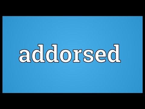 Header of addorsed