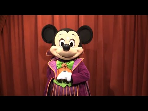 Mickey Mouse tells a Halloween joke at Mickey's Not-So-Scary Halloween Party 2014