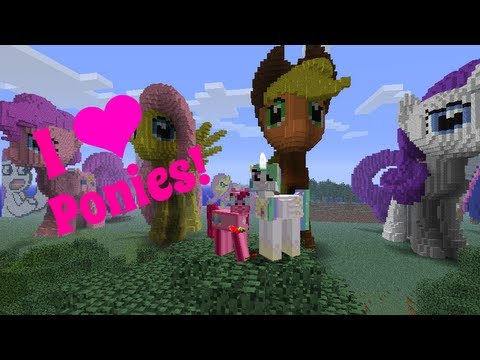 Amys Minecraft World Tours! Equestria & Ponies! LOVE!!!