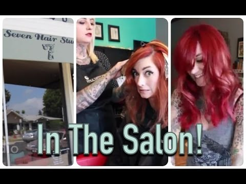 My Red Hair! In the Salon with CHERRY DOLLFACE