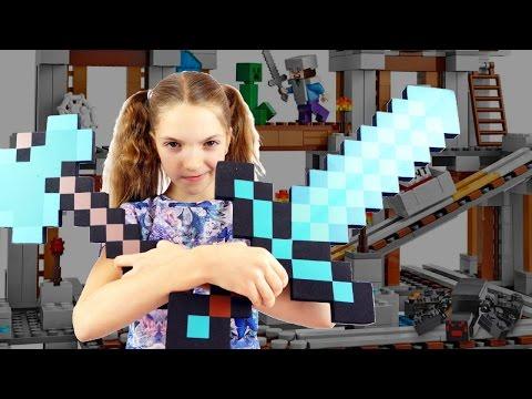 Игры для детей. Майнкрафт шахта - спасение Стива. Лучшая подружка Света.