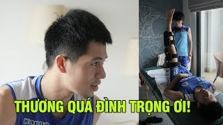 Ted Trần xót xa nhìn Đình Trọng nhăn nhó tập luyện cùng thần y Choi