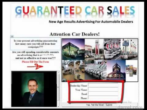 Guaranteed Car Sales for Automobile Dealers