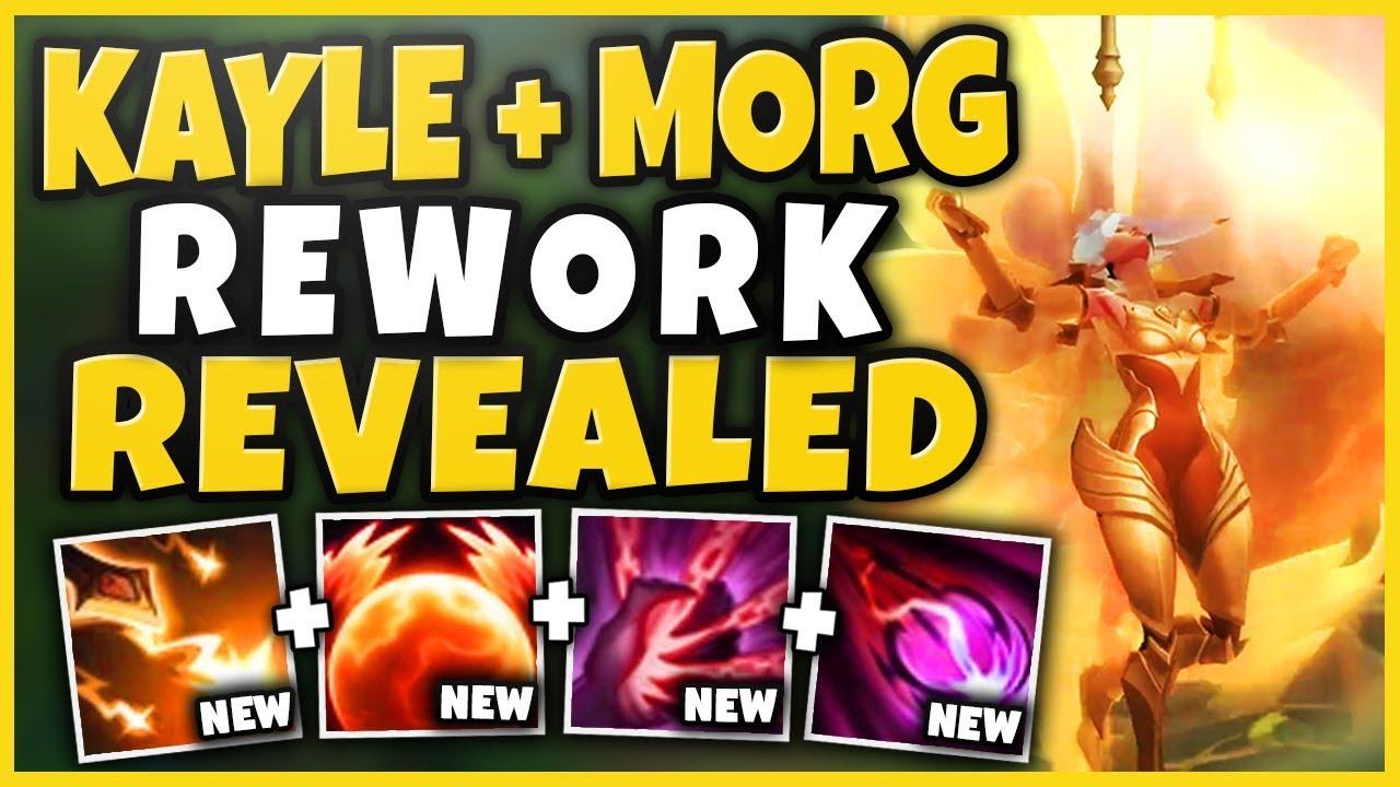 KAYLE + MORGANA REWORK SPELLS REVEALED!?! NEW KAYLE ULT EVOLVES INTO GOD-MODE?! - League of Legends