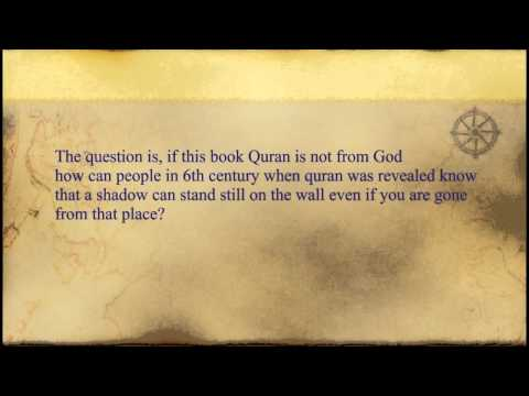 Scientific miracle in Quran about frozen shadows