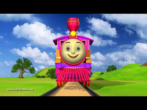 Engine Engine Number 9  - 3D Animation English Nursery Rhyme For Children