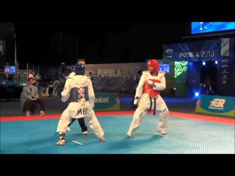 Wtf World Taekwondo Championships Puebla 2013 Male -63kg Col Vs Mex video