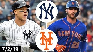 New York Yankees vs New York Mets Highlights | July 2, 2019