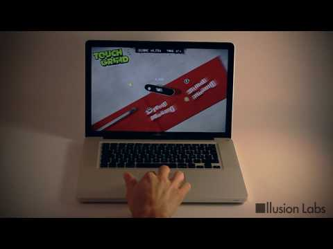 Thumb Juego Multi-Touch funcionando con el Trackpad de una MacBook