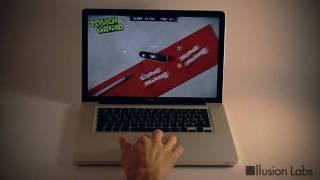 Thumb Juego Multi-Touch funcionando con el Trackpad de una MacBook