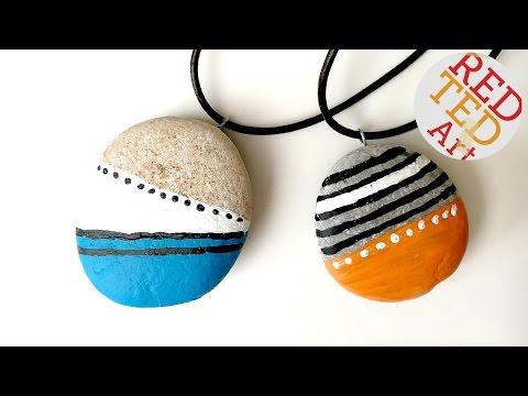 DIY Stone Pendants - Jewelry - Nature Crafts - Stone Crafts